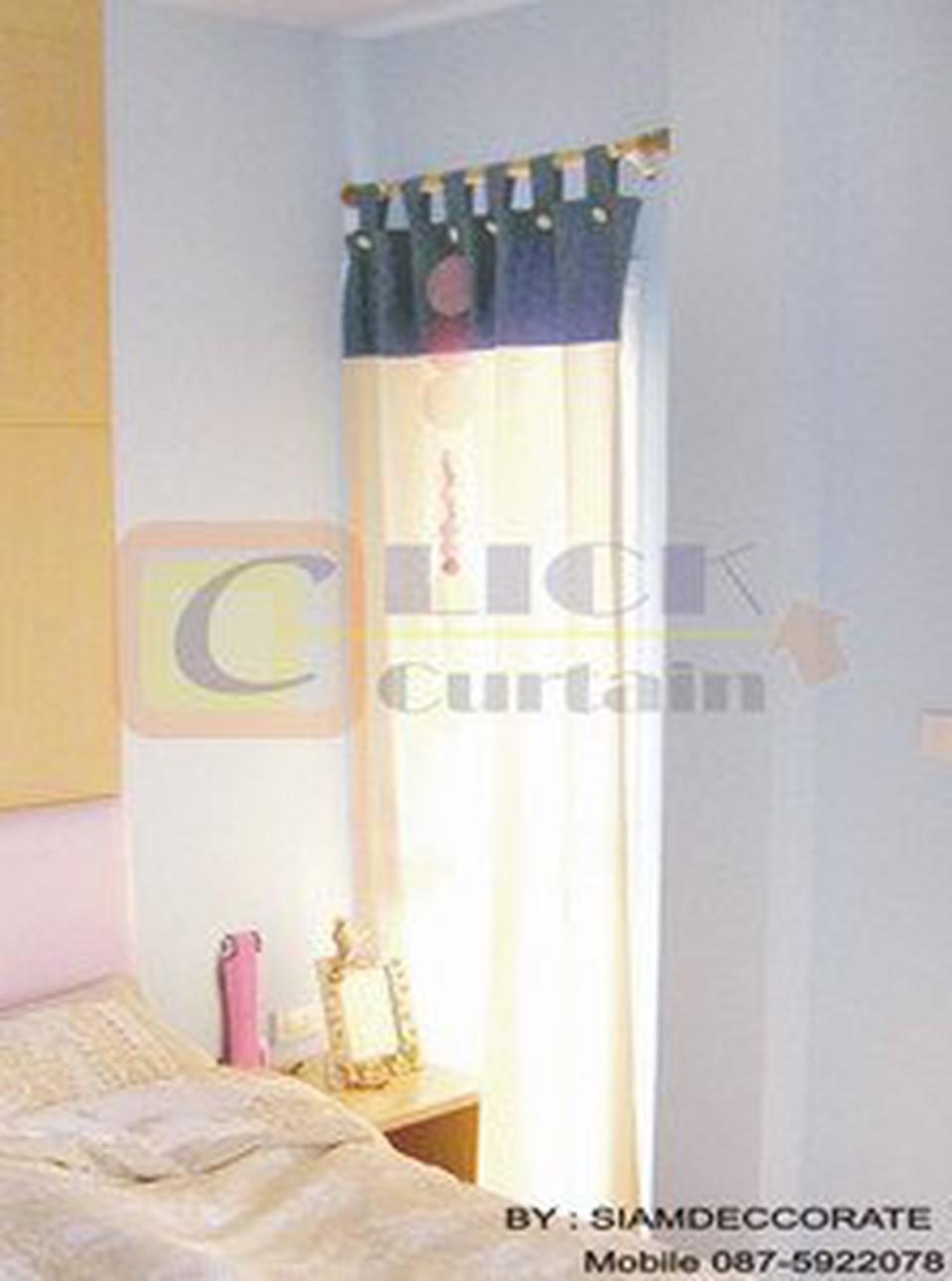 Click Curtain  ผ้าม่านสำเร็จรูปที่มีจำหน่ายหลากสไตล์ เช่น ม่านตอกตาไก่,ม่านคอกระเช้าและม่านจีบ ให้เลือกสรรเพื่อเหมาะกับก รูปที่ 6