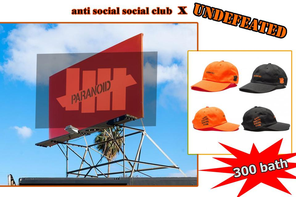 หมวก anti social social club x UNDEFEATED รูปที่ 1