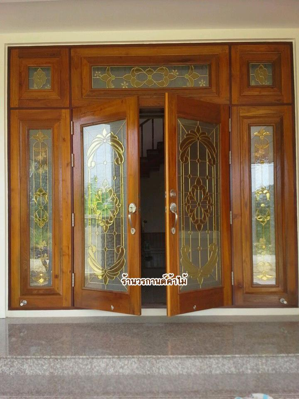 door-woodhome.comร้านวรกานต์ค้าไม้ จำหน่าย ประตูไม้สัก,ประตูไม้สักกระจกนิรภัย, หน้าต่างไม้สัก วงกบ ประตูไม้สักแพร่ รูปที่ 1