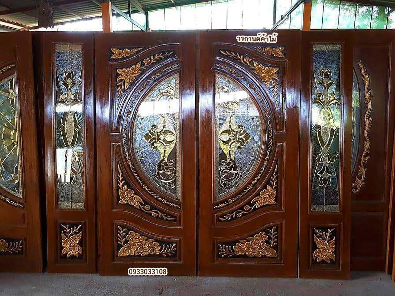 ร้านวรกานต์ค้าไม้ จำหน่าย ประตูไม้สัก กระจกนิรภัย,ประตูบานเลื่อนไม้สัก รูปที่ 1