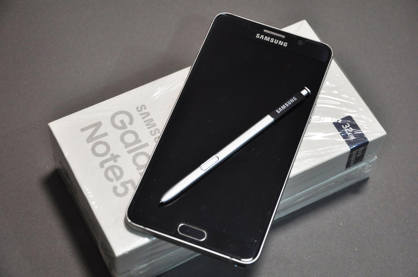 ซัมซุง note5 32GB  สี Black sapphire รูปที่ 3
