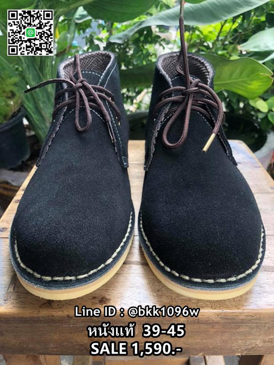รองเท้าบูทหนังแท้ผู้ชาย สีดำ วัสดุหนังกลับแท้ มีเชือกผูก  รูปที่ 1