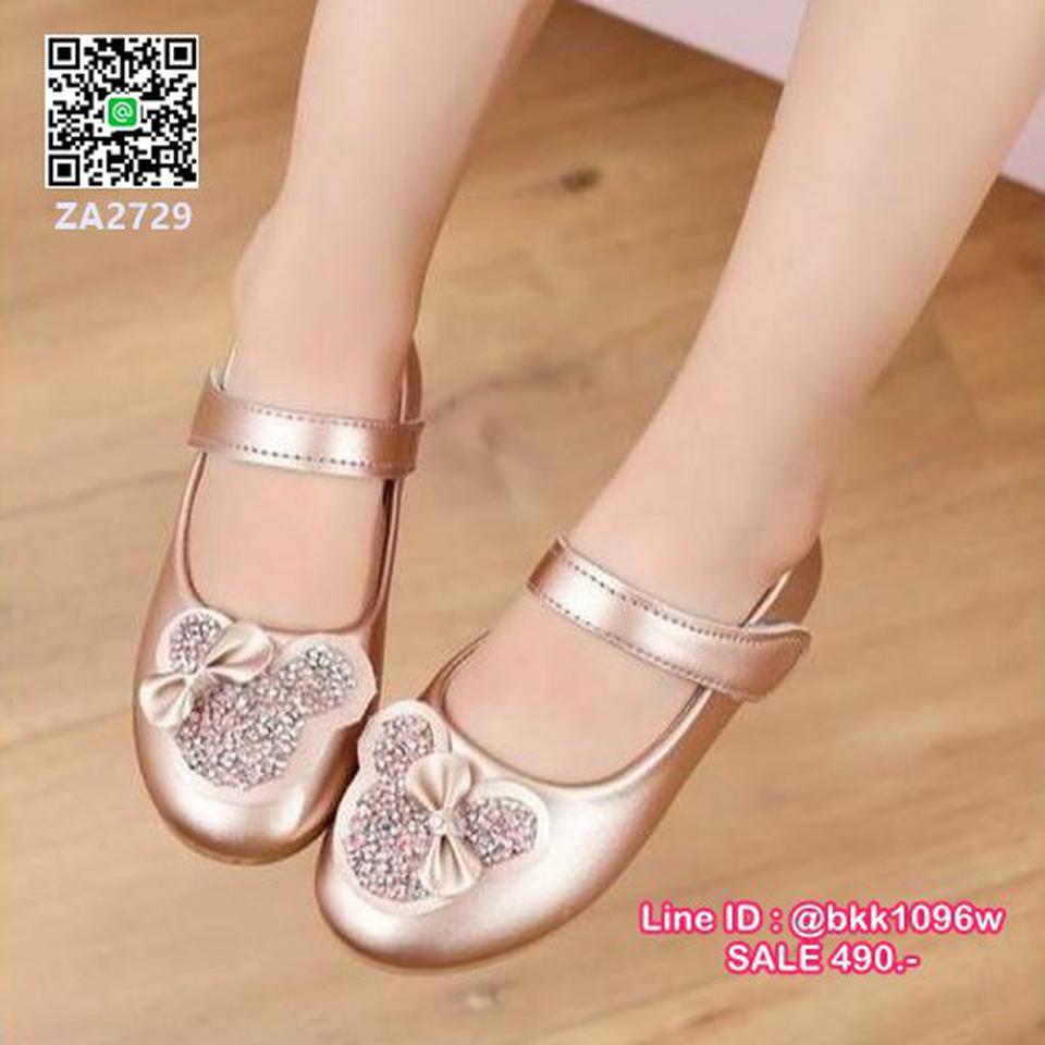 รองเท้าคัชชูเด็ก น่ารักฟรุ้งฟริ้ง ไซส์ 21-30 มีสายคาดหน้าเท้ากันหลุด รูปที่ 6