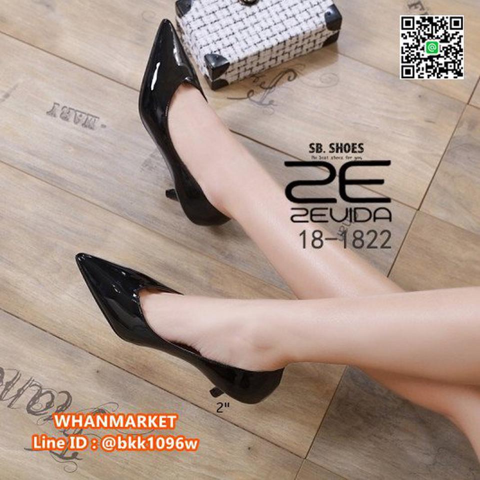 รองเท้าคัชชู หัวแหลม ส้นสูง 2นิ้ว วัสดุหนังPUเงา ใส่แล้วหรู  รูปที่ 2