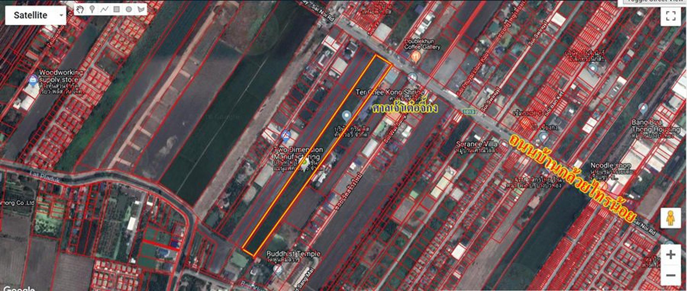 ขายที่ดินไทรน้อย 12 ไร่ เขตบางบัวทอง นนทบุรี ติดถนนบ้านกล้วย-ไทรน้อย เส้น 1013 อยู่ในเขตพื้นที่สีเหลือง เห รูปที่ 5