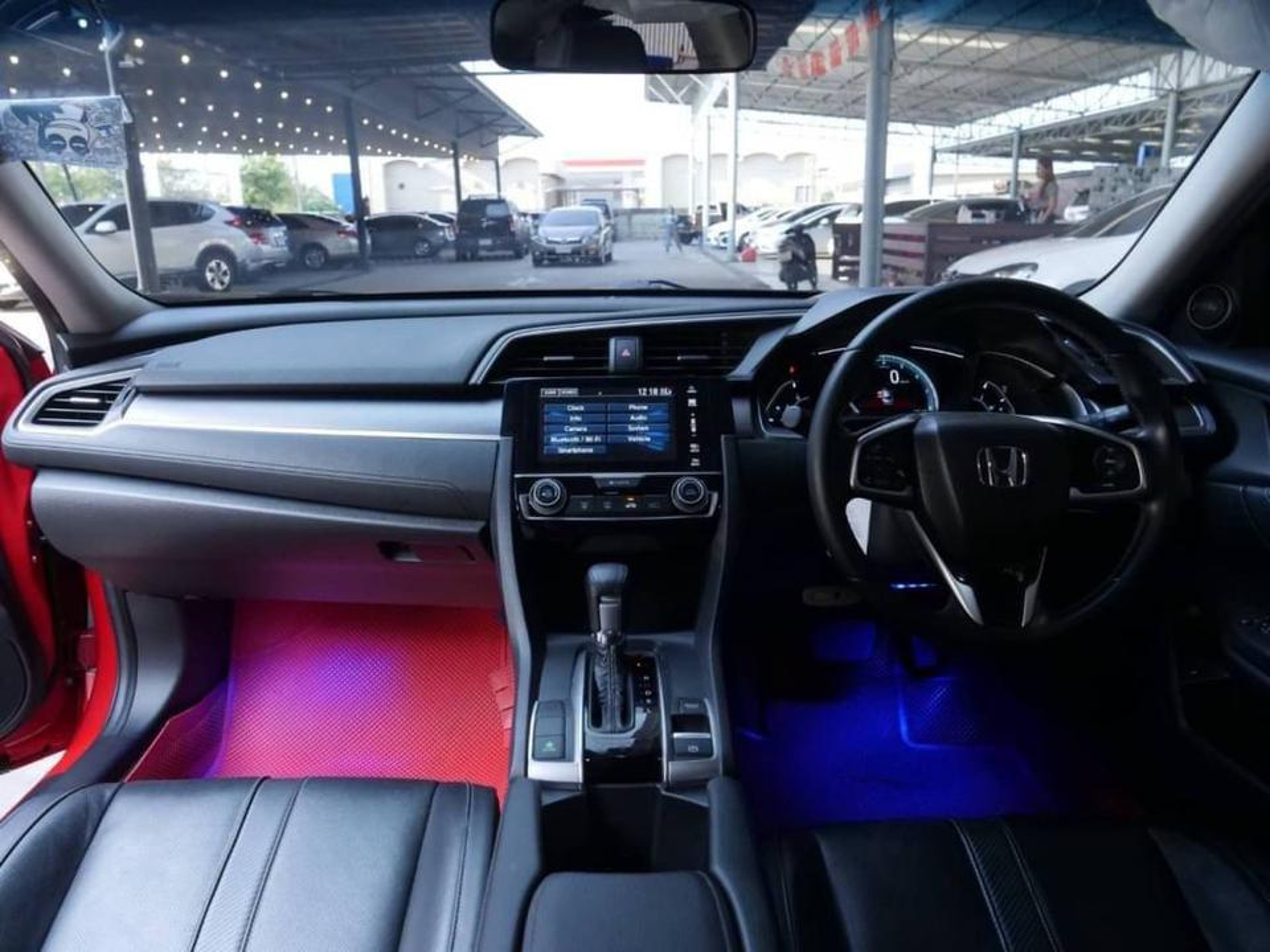 86 Honda Civic FC 1.8 EL Top 2018 Auto สีแดง รูปที่ 2