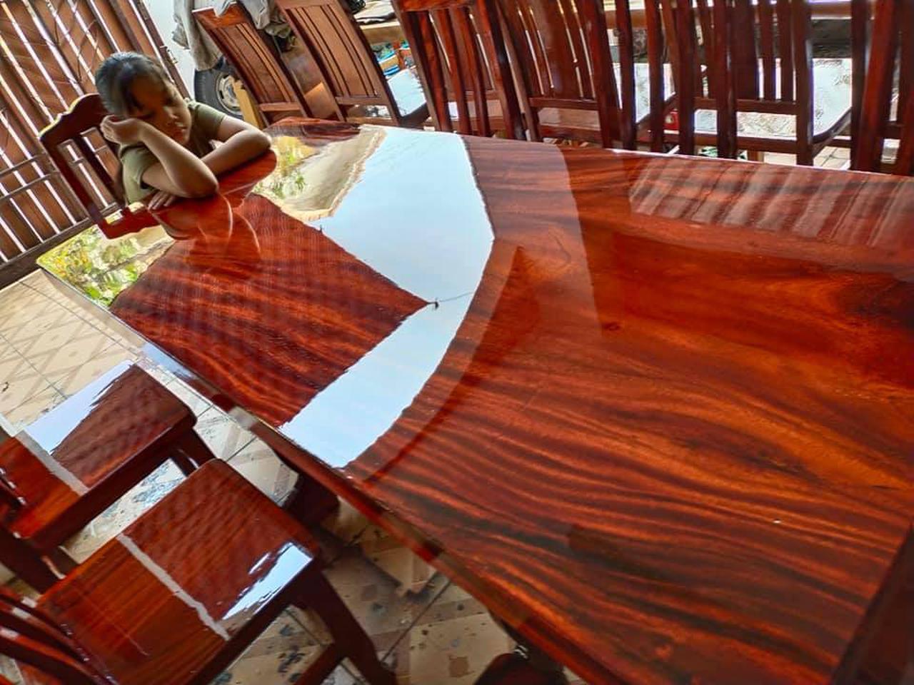 โต๊ะอาหาร ก80xย180+เก้าอี้ 8  ตัว  รูปที่ 5
