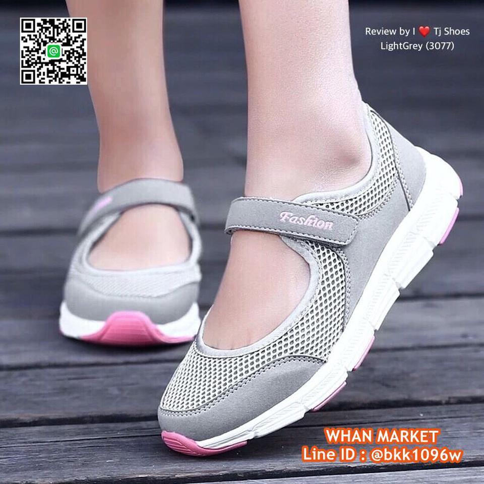 รองเท้าผ้าใบ แบบสวม วัสดุผ้าใบอย่างดี น้ำหนักเบ๊าเบา  รูปที่ 5