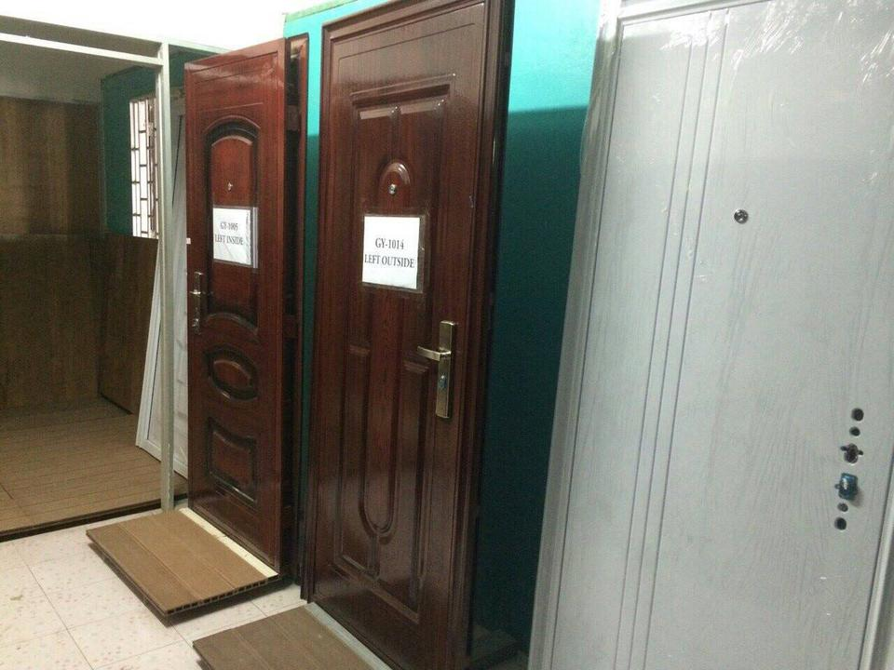 ประตูนิรภัย ประตูสำเร็จรูป ประตูบานเปิด รูปที่ 5
