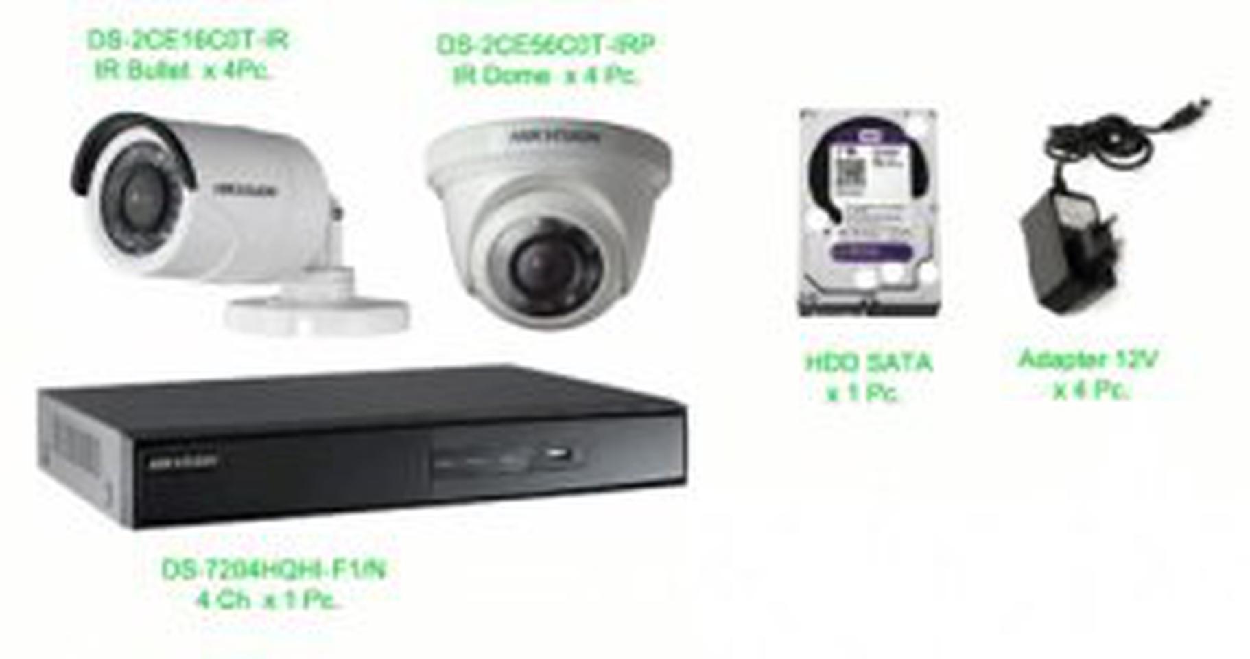 ชุด กล้องวงจรปิด hikvision ราคาถูก รูปที่ 1