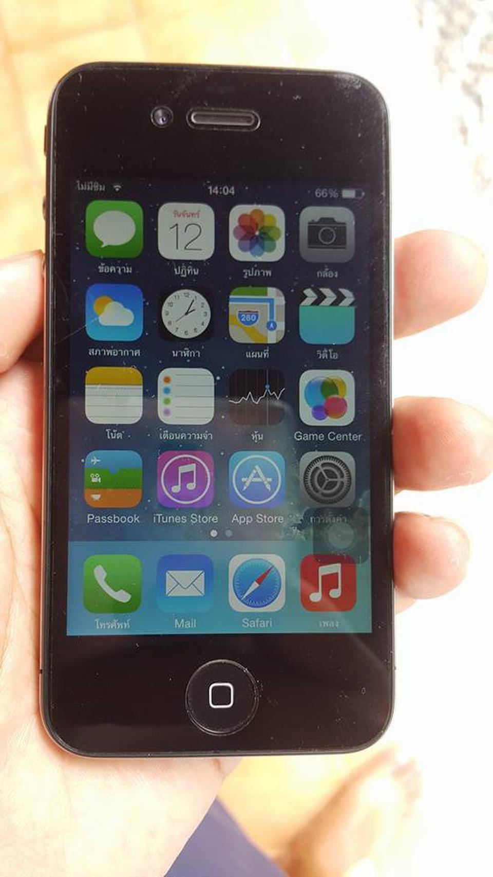 iphone4 16gb เครื่องโมเดลไทย การใช้งานปกติไม่ติดไอดีหรือรหัสอะไร รูปที่ 1