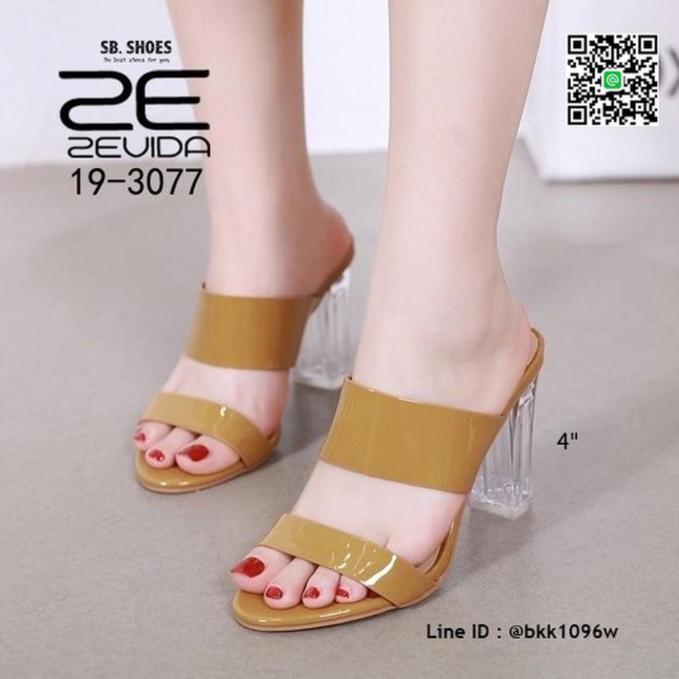 รองเท้าลำลอง ส้นแก้ว สูง 4 นิ้ว งานนำเข้าคุณภาพ สไตล์เกาหลี  รูปที่ 5