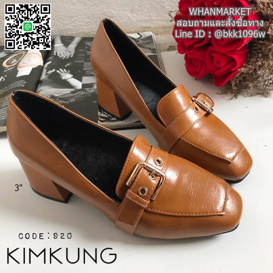 """รองเท้าคัทชูส้นสูง style oxford งานนำเข้า งานเกาหลี เข็มขัดด้านหน้า สูง 3"""" รูปที่ 2"""
