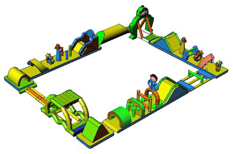 เครื่องเล่นสวนน้ำ obstacle game 20X15M เครื่องเล่นสวนน้ำ อุปสรรค 20X15M รูปที่ 2