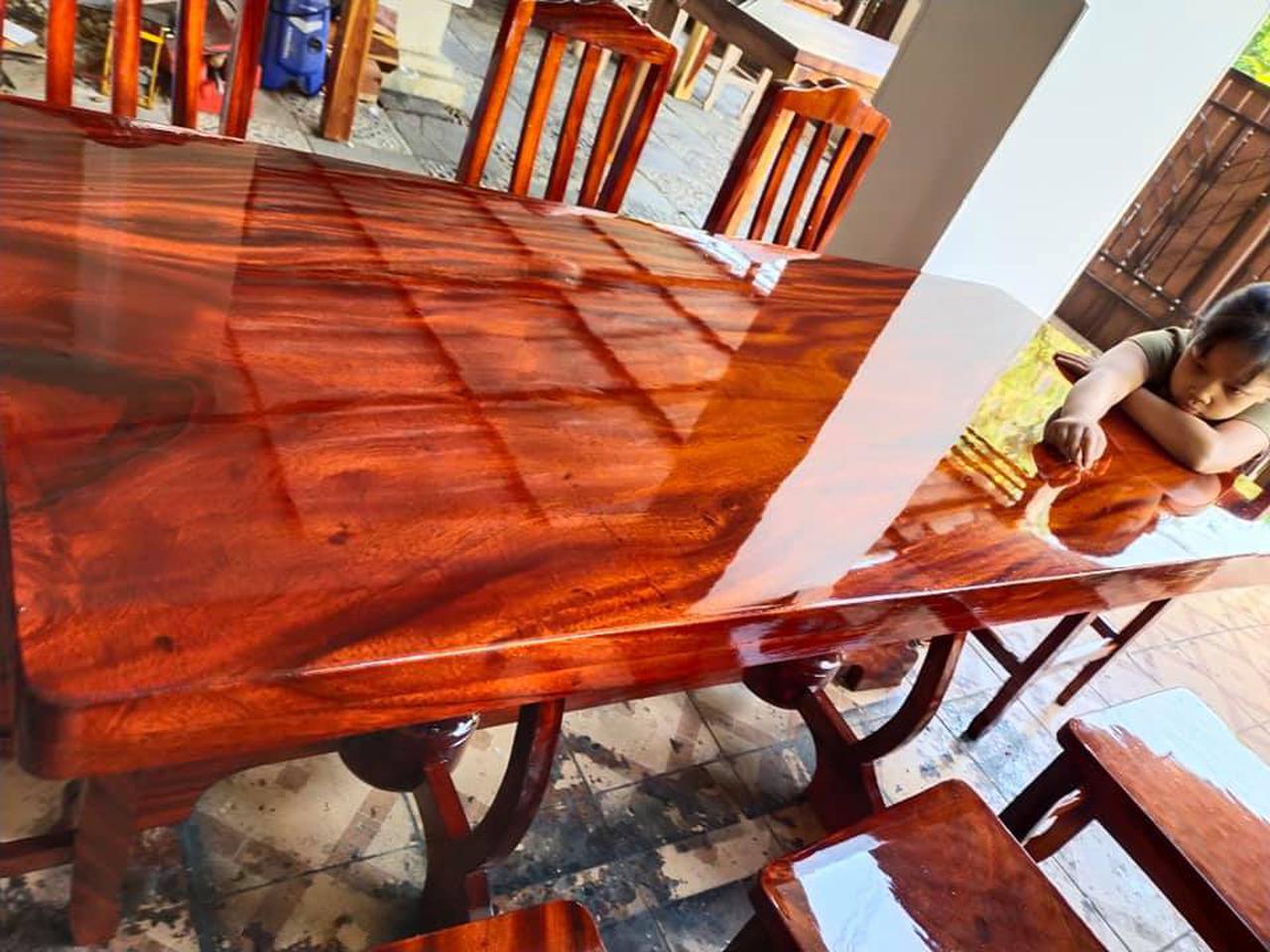 โต๊ะอาหาร ก80xย180+เก้าอี้ 8  ตัว  รูปที่ 4