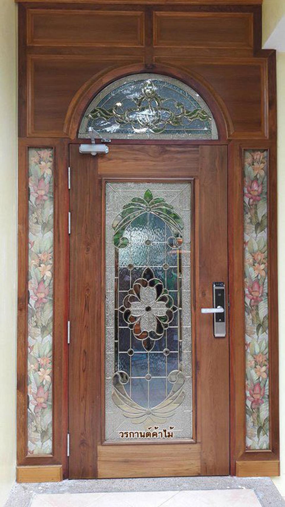 door-woodhome จำหน่ายประตูไม้สัก,ประตูไม้สักกระจกนิรภัย,ประตูไม้สักบานคู่ รูปที่ 3
