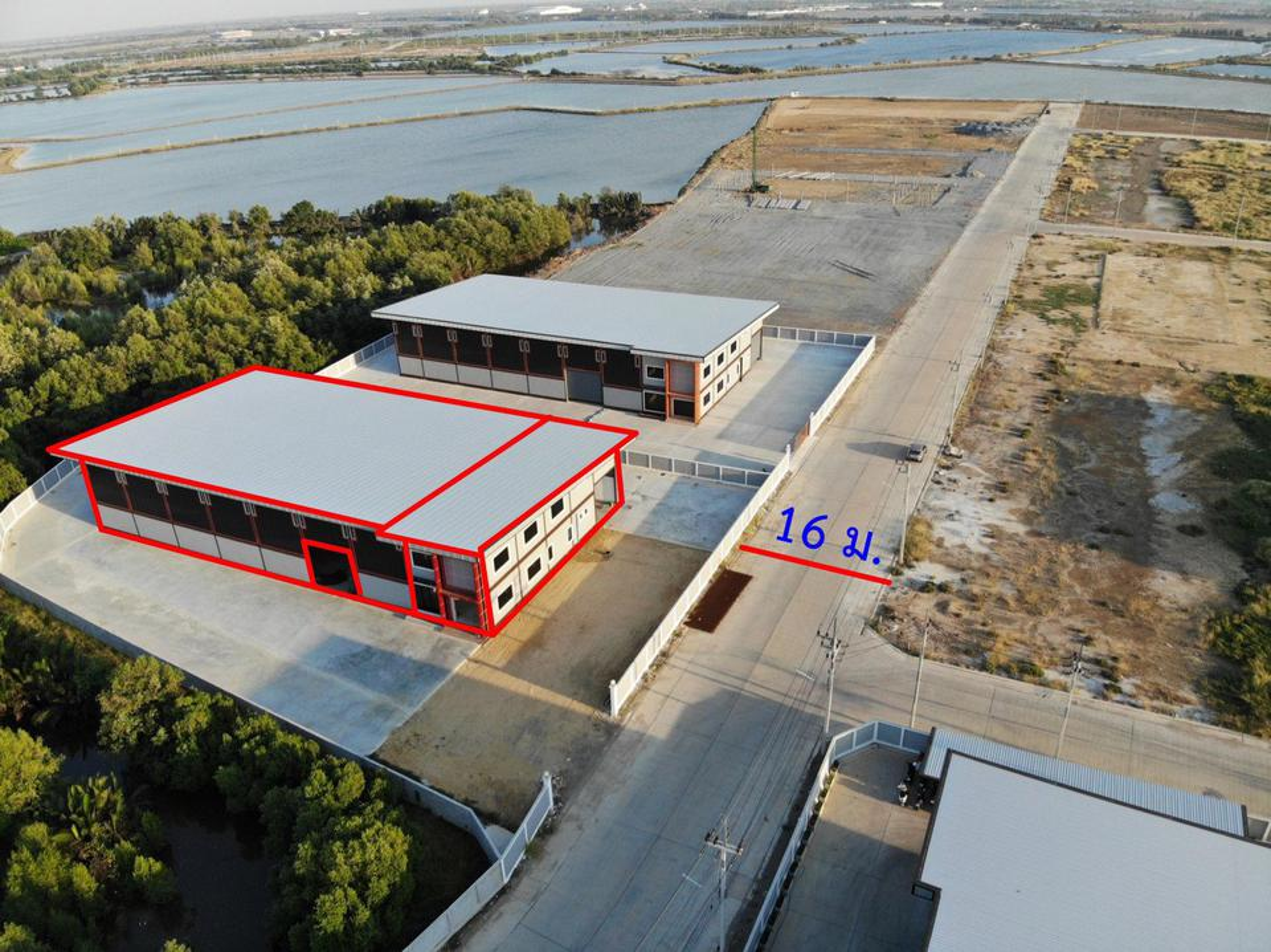 S268 โรงงานสร้างใหม่พร้อมใช้งานไม่ไกลจากกรุงเทพ 2 ไร่กว่า 1,320 ตร.ม. ถนนกว้าง เดินทางสะดวก กู้ง่าย ขายโรงงานสมุทรสาคร รูปที่ 2
