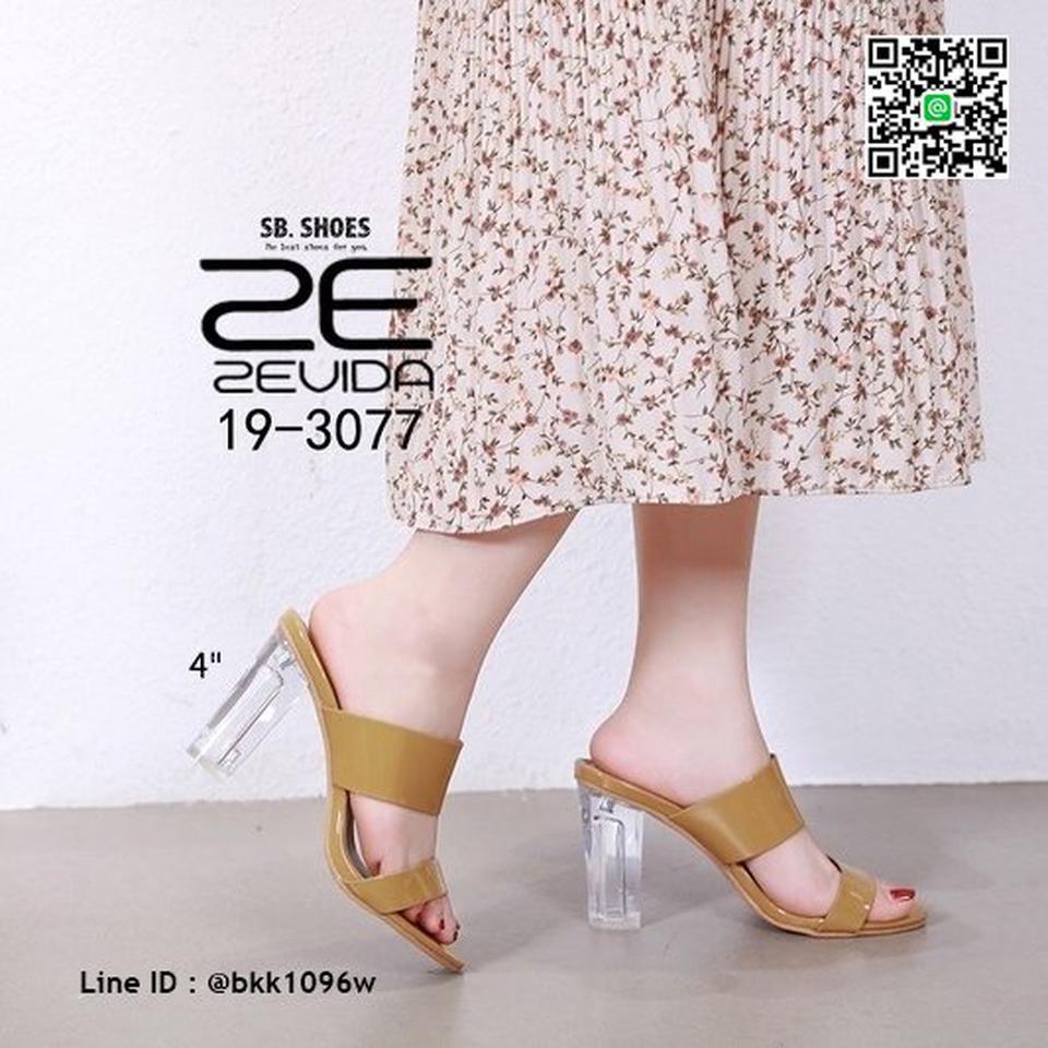 รองเท้าลำลอง ส้นแก้ว สูง 4 นิ้ว งานนำเข้าคุณภาพ สไตล์เกาหลี  รูปที่ 2