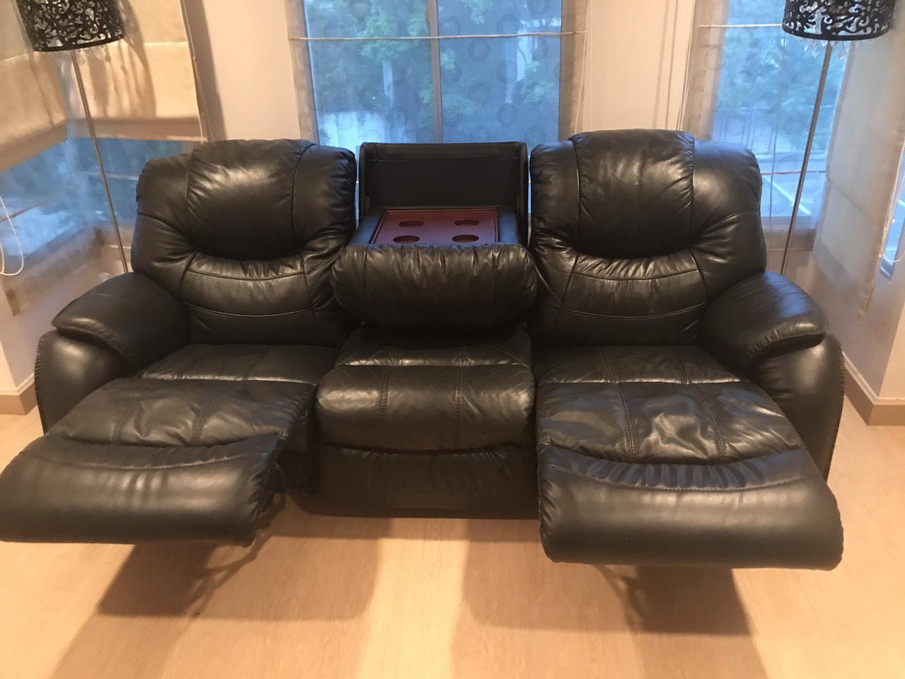 เก้าอี้โฮมเทียเตอร์หนังแท้ รูปที่ 1