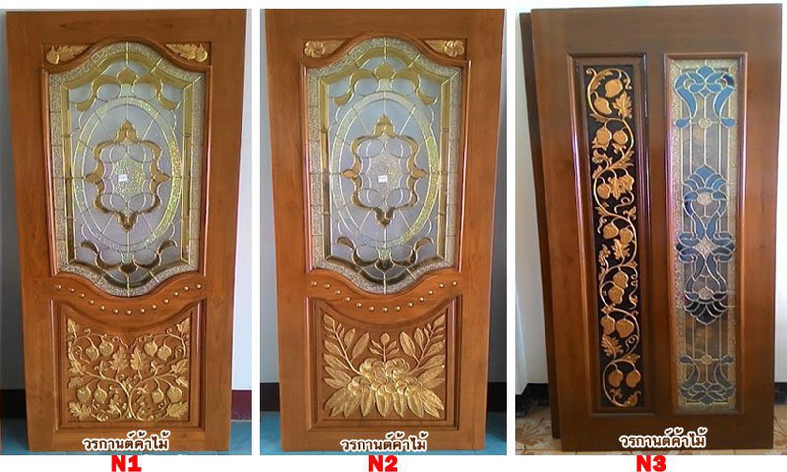 ประตูไม้สัก,ประตูไม้สักกระจกนิรภัย,ประตูไม้สักบานคู่,ประตูไม้สักบานเดี่ยว www.door-woodhome.com รูปที่ 2