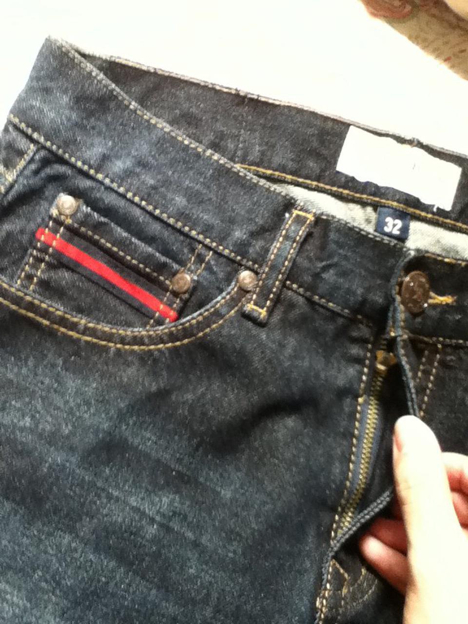 กางเกงยีนส์ทรงกระบอกเล็ก เอว32 รูปที่ 2