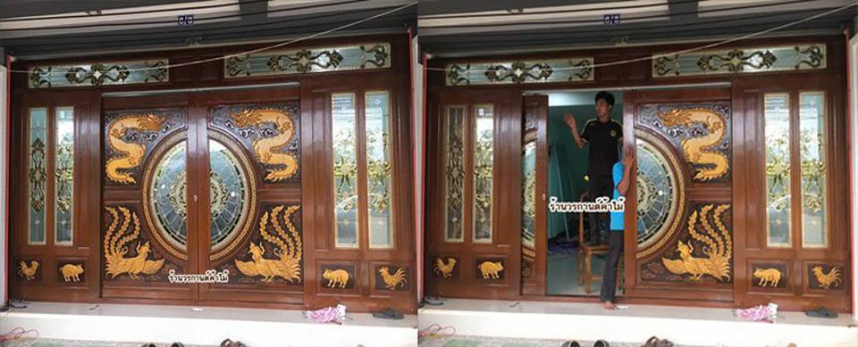 door-woodhome.com ประตูไม้สักกระจกนิรภัย,ประตูไม้สักโมเดิร์น, ประตูไม้สักบานเลื่อน, ประตูหน้าต่างไม้สัก รูปที่ 1