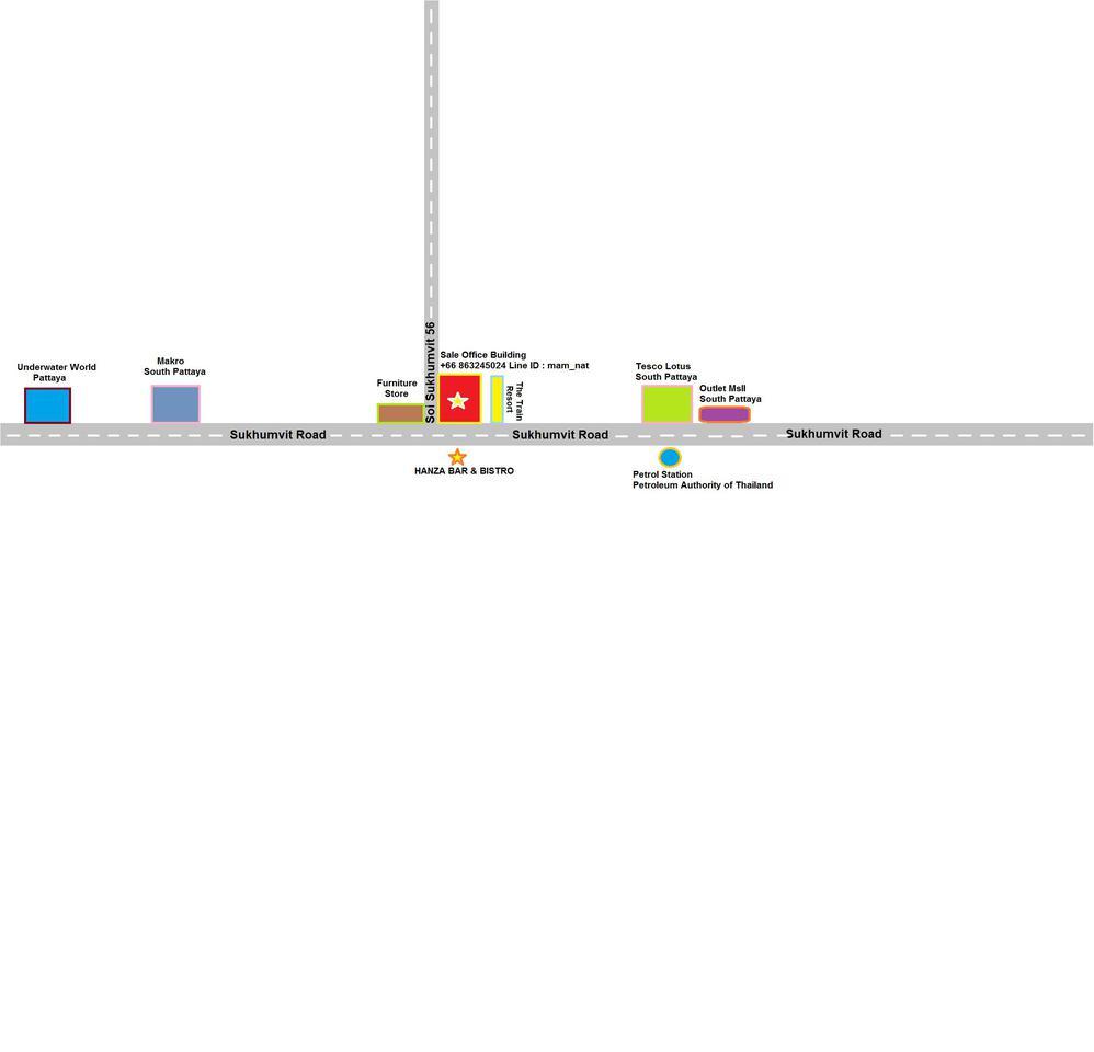 ขายอาคารติดถนนสุขุมวิท 56 พัทยาใต้ ระหว่างแมคโคร และ โลตัส รูปที่ 3