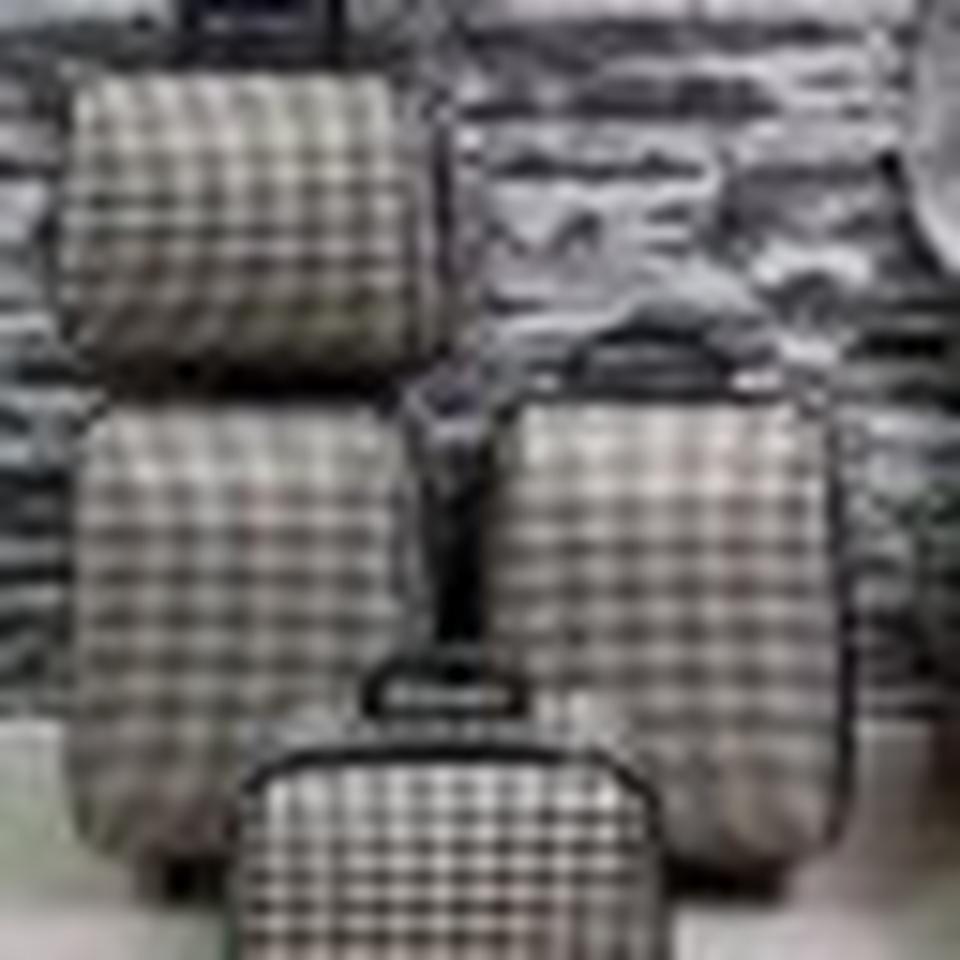 กระเป๋าเดินทางแบบผ้า เซ็ทคู่ 18/13 นิ้ว ลาย Khaki/Brown รูปที่ 4