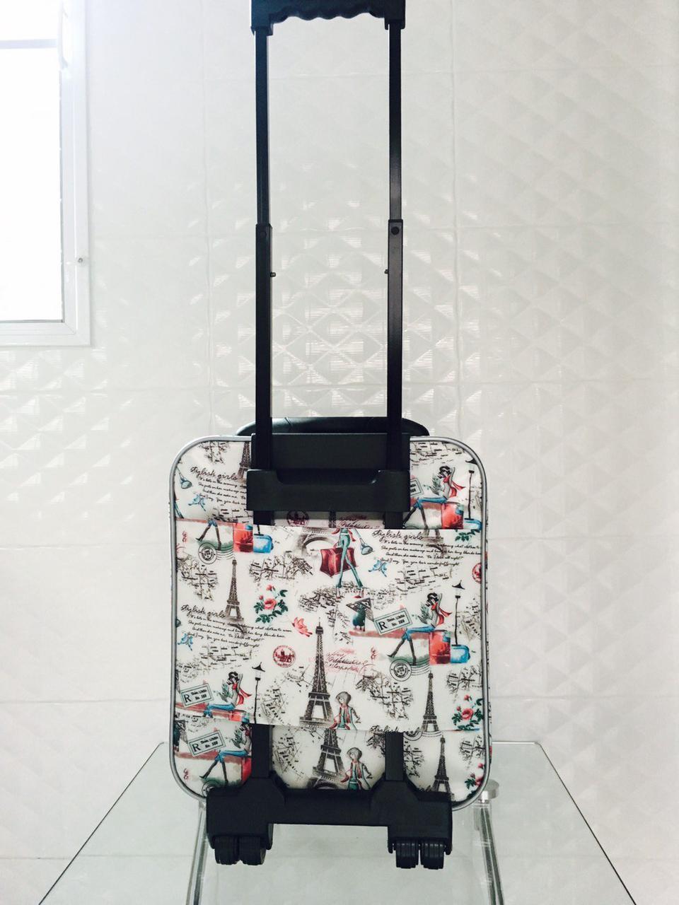 กระเป๋าเดินทางแบบผ้า ลายหอไอเฟล 16 นิ้ว รูปที่ 4