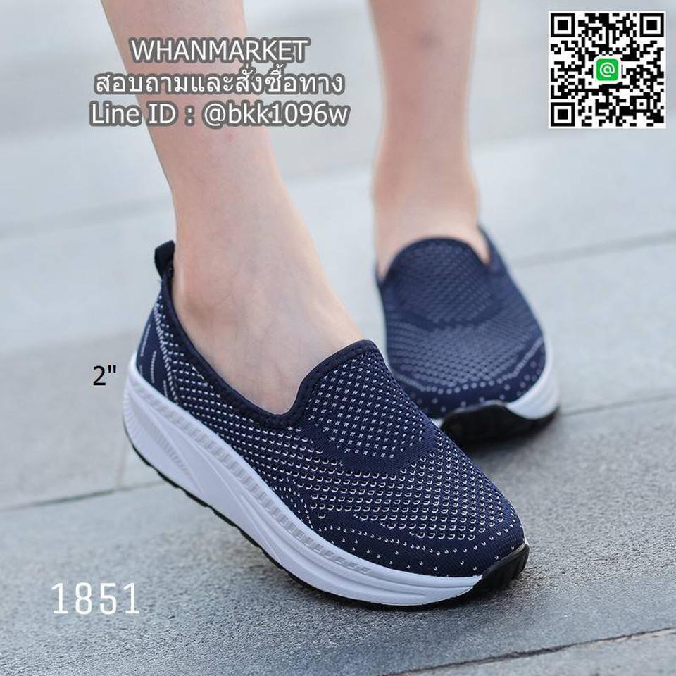 รองเท้าผ้าใบลำลอง เสริมส้น 2 นิ้ว วัสดุผ้าทอตาข่ายอย่างดี  รูปที่ 5