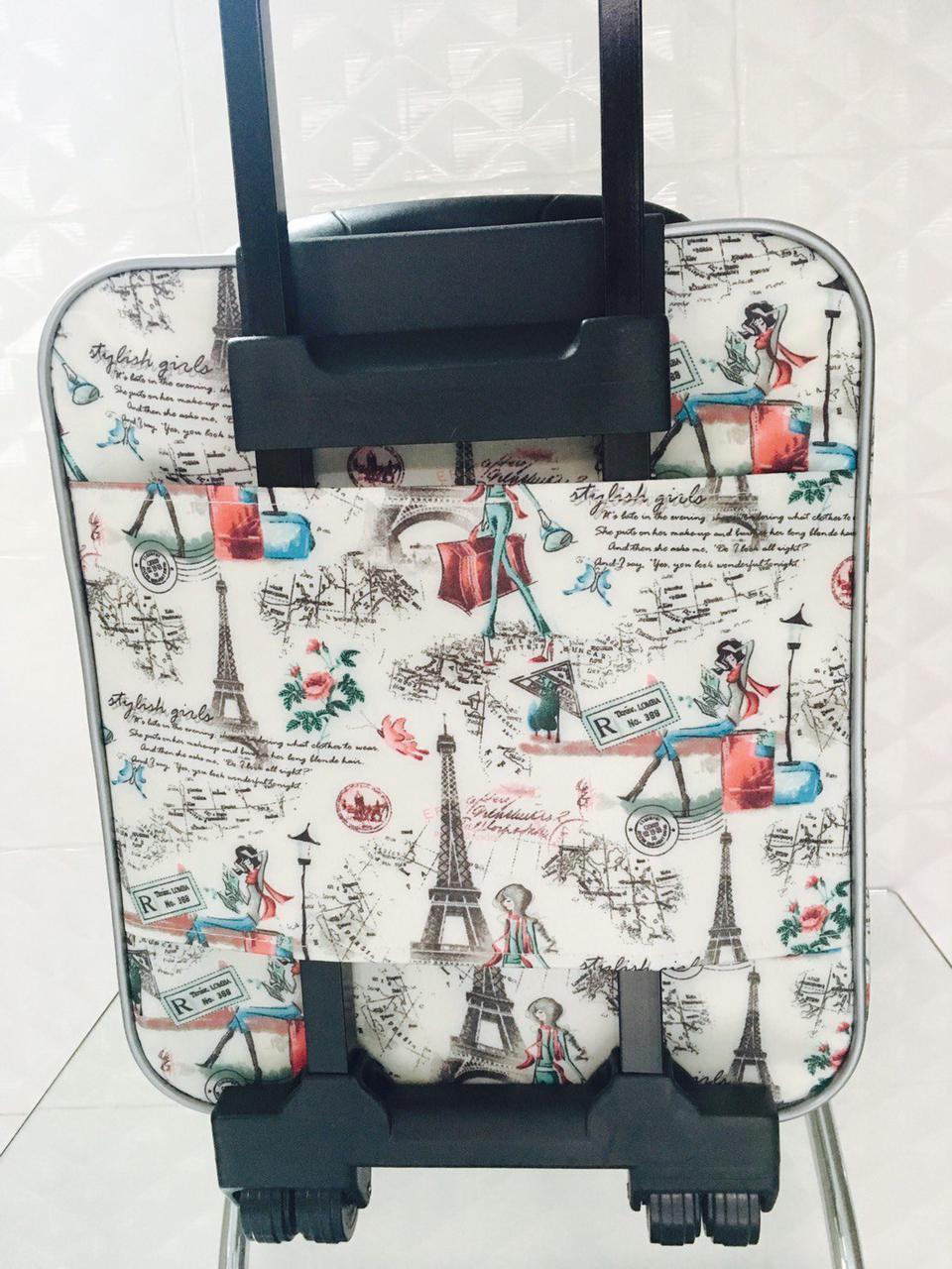กระเป๋าเดินทางแบบผ้า ลายหอไอเฟล 16 นิ้ว รูปที่ 5