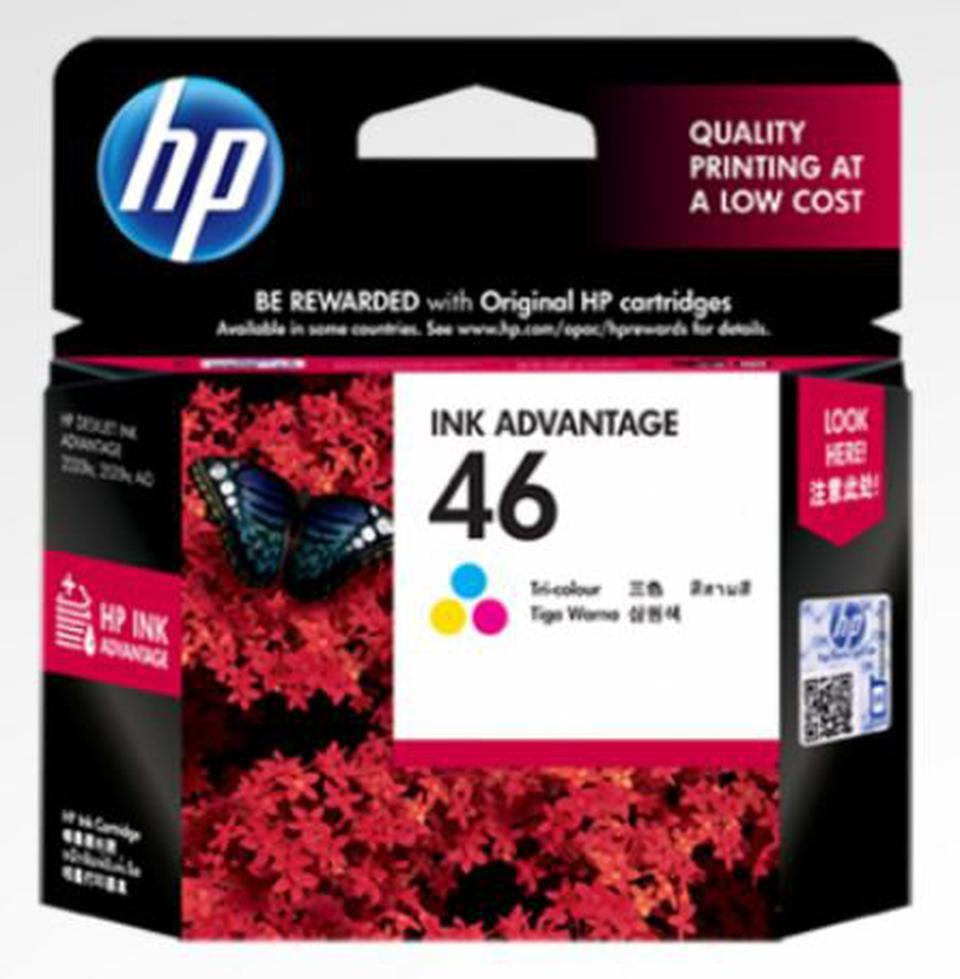 ตลับหมึกสี Printer HP INKJET 46 รุ่น CZ638AA ของแท้ รูปที่ 1