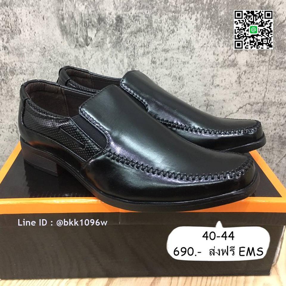 รองเท้าคัชชูหนังสีดำ แฟชั่นผู้ชาย วัสดุหนังPU อย่างดี แบบสวม รูปที่ 2