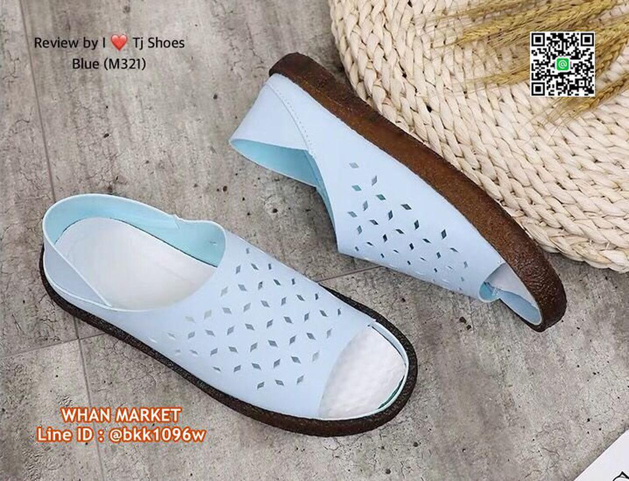 รองเท้าลำลอง หนังpuนิ่มมากกกก ใส่ได้2แบบ เปิดส้นหรือหุ้มส้น รูปที่ 3