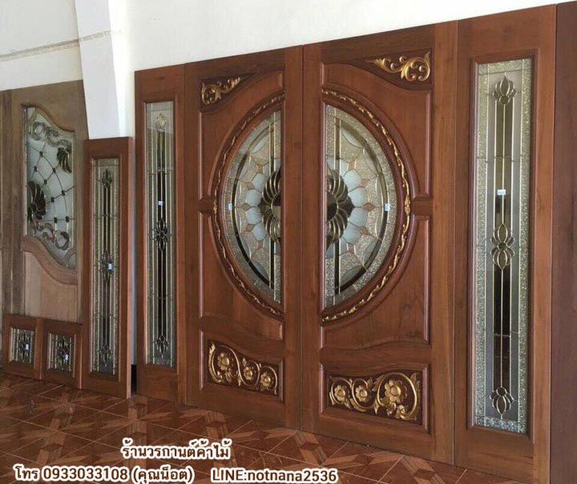 ร้านวรกานต์ค้าไม้ จำหน่าย ประตูไม้สัก กระจกนิรภัย,ประตูบานเลื่อนไม้สัก รูปที่ 6