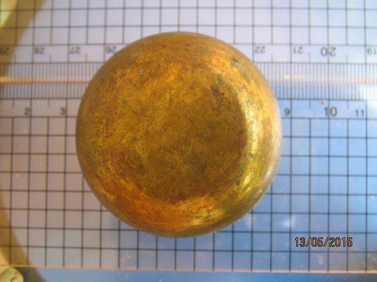 1982 ถ้วยทองเหลือง ความกว้างขนาด 2 นิ้ว สูง 1 นิ้ว ถ้วยทองเห รูปที่ 4