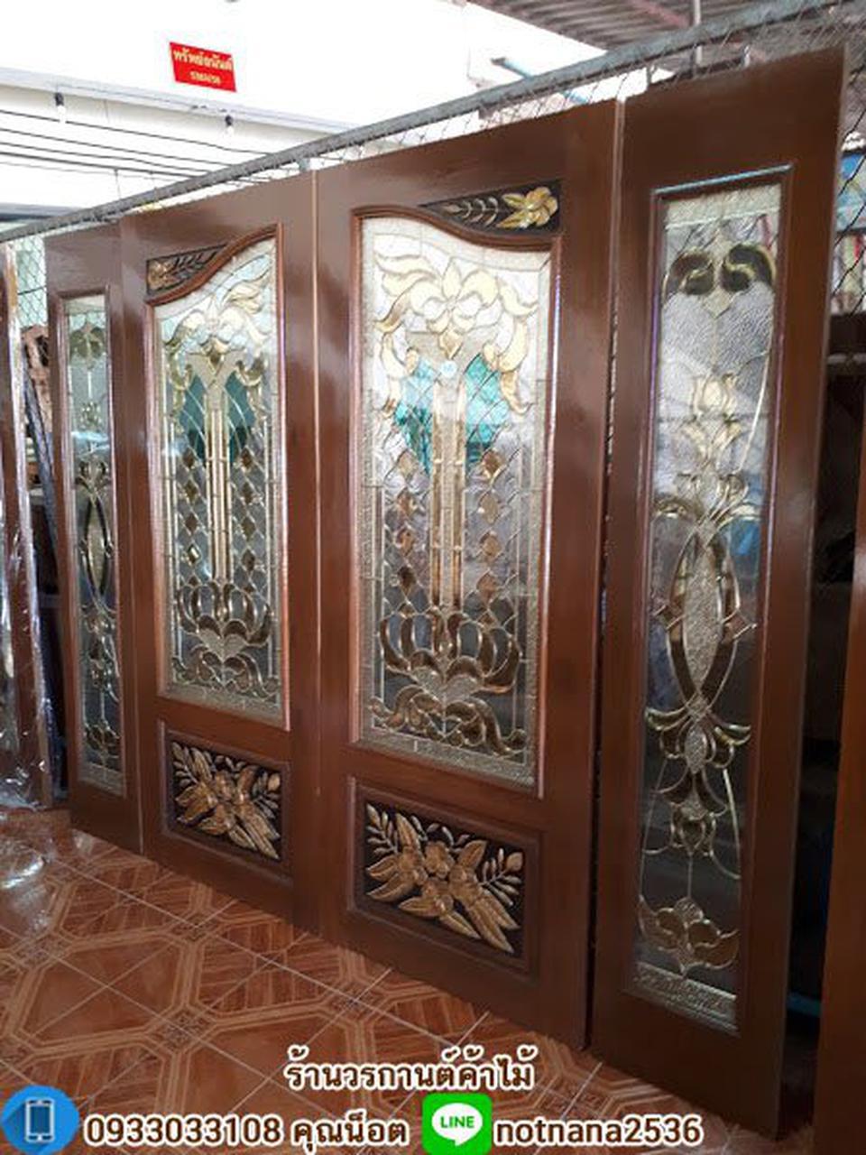 ร้านวรกานต์ค้าไม้ จำหน่าย ประตูไม้สัก กระจกนิรภัย,ประตูบานเลื่อนไม้สัก รูปที่ 5