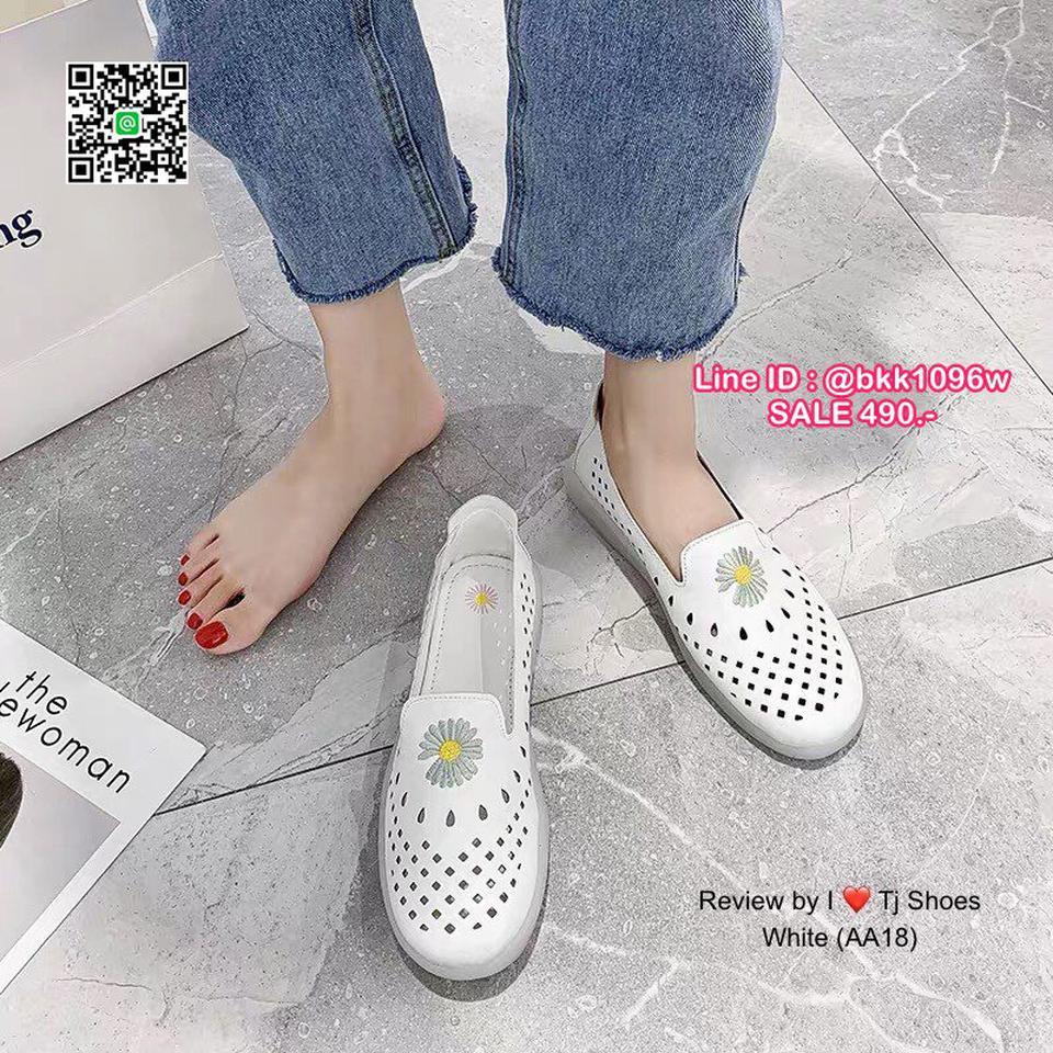 รองเท้าคัชชูหนัง วัสดุหนังPUนิ่มมาก ปักลายดอกไม้น่ารัก  รูปที่ 4