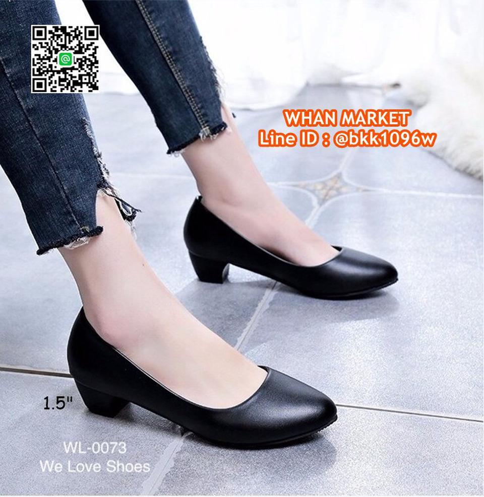 รองเท้าคัชชูสีดำ ส้นเหลี่ยม ส้นสูง 1.5 นิ้ว หนังPU อย่างดี  รูปที่ 6