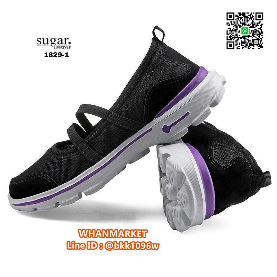 รองเท้าผ้าใบลำลอง ทำจากผ้ายืดตาข่าย มีสายยางยืดรัด รูปที่ 6