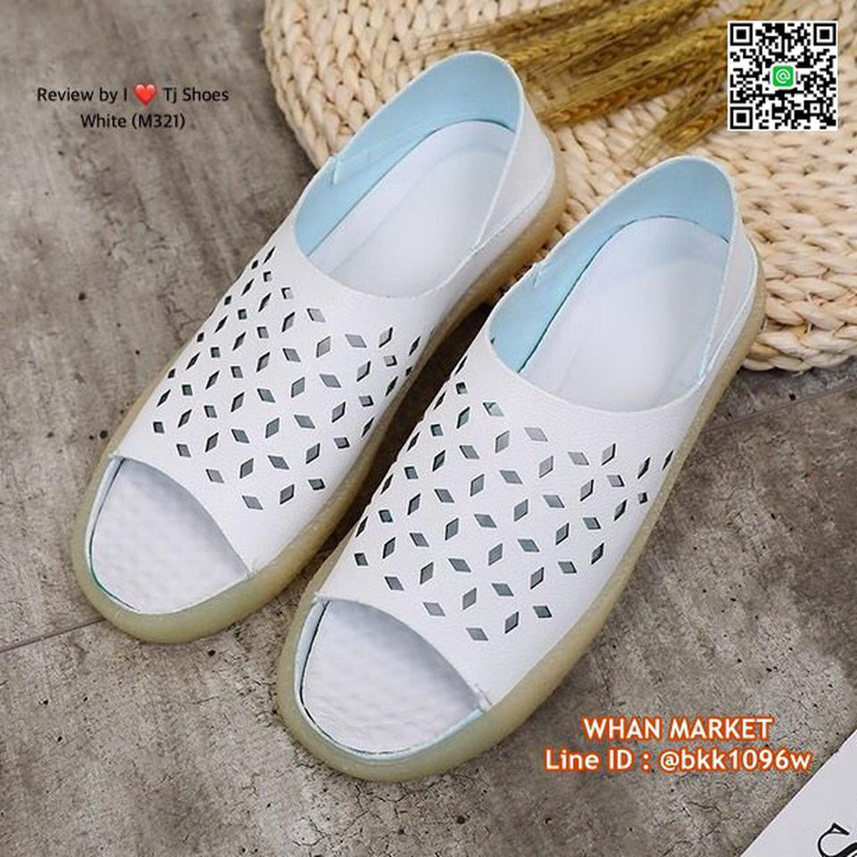 รองเท้าลำลอง หนังpuนิ่มมากกกก ใส่ได้2แบบ เปิดส้นหรือหุ้มส้น รูปที่ 1