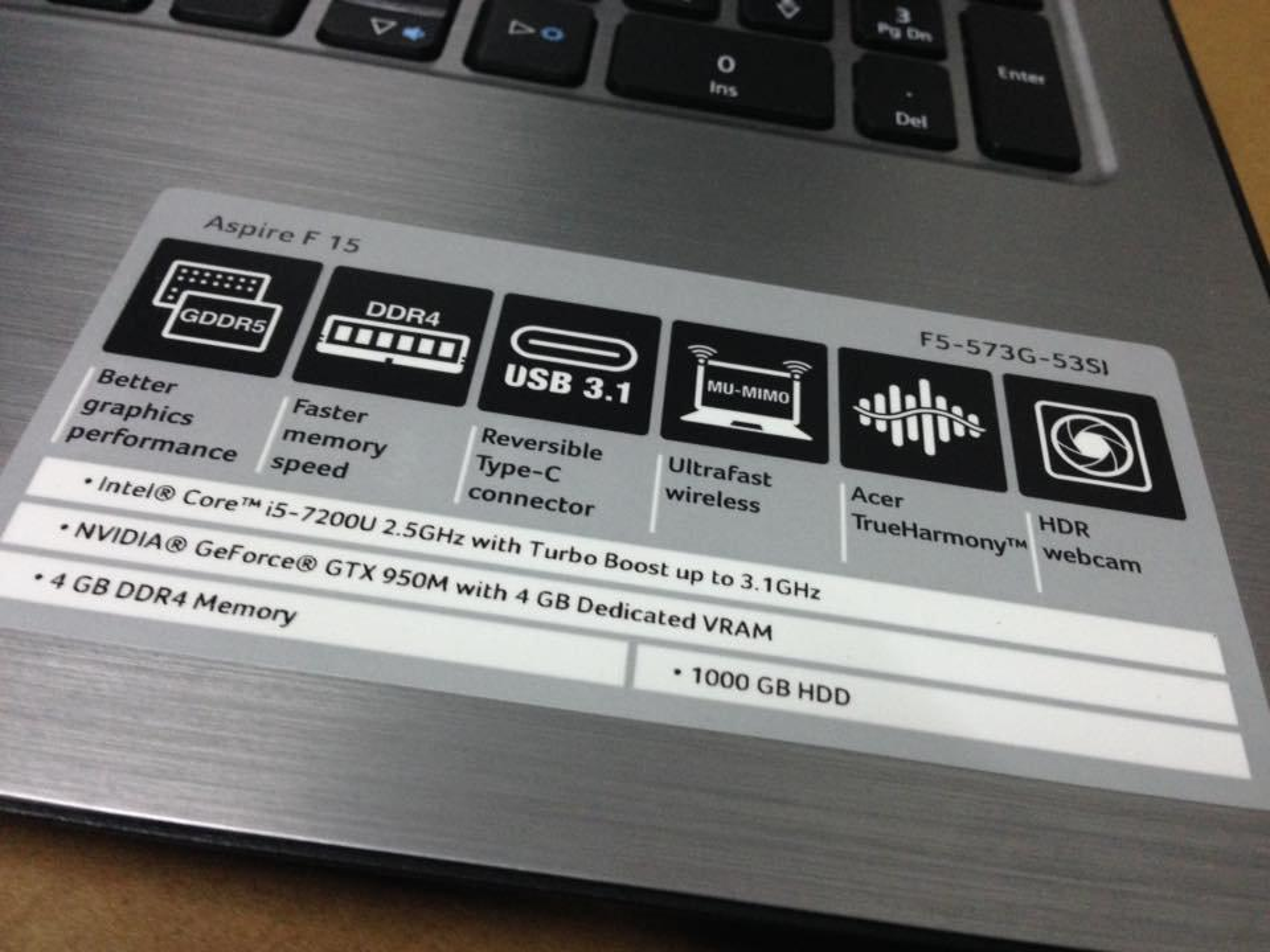 Acer aspire f15 F5-573G-53SJ รูปที่ 3