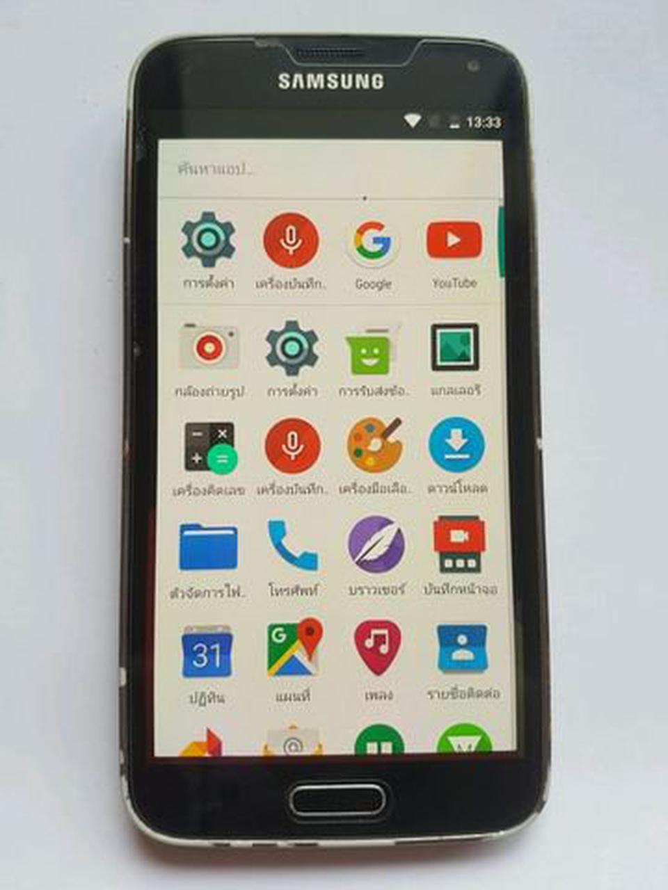 ซัมซุง S5 สีดำ ใช้งานได้ปกติทุกอย่างคะ รูปที่ 1
