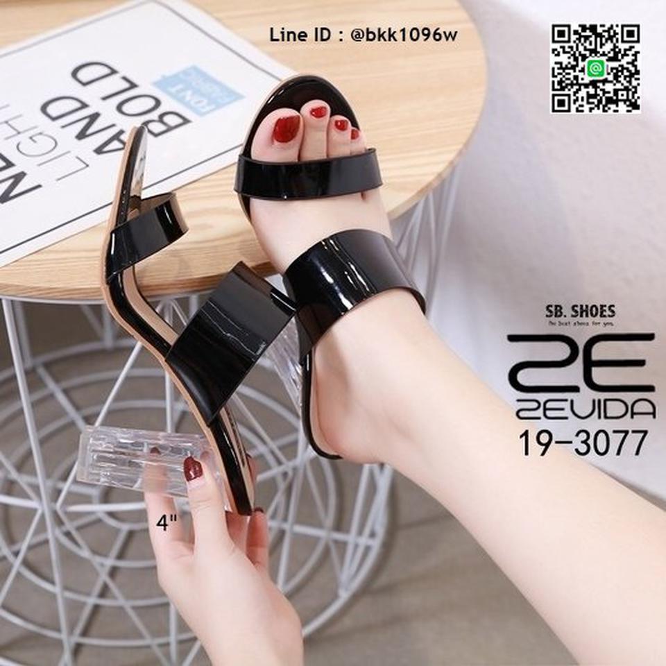 รองเท้าลำลอง ส้นแก้ว สูง 4 นิ้ว งานนำเข้าคุณภาพ สไตล์เกาหลี  รูปที่ 1