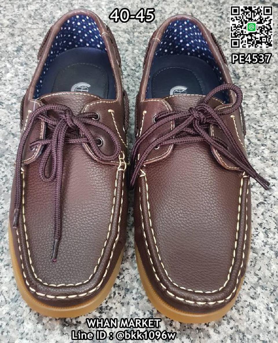 รองเท้าคัชชูหนังผู้ชาย boat shoes วัสดุหนังPU คุณภาพดี  รูปที่ 3