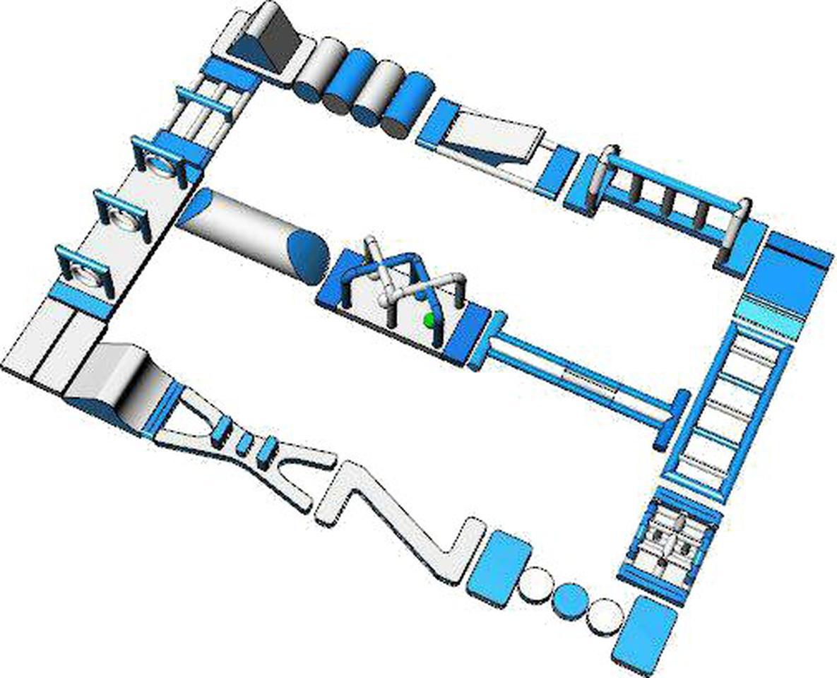 เครื่องเล่นสวนน้ำ obstacle game 20X15เครื่องเล่นสวนน้ำ อุปสรรค 20X15 รูปที่ 2