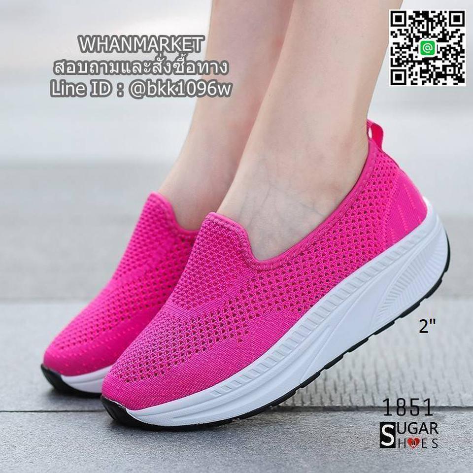 รองเท้าผ้าใบลำลอง เสริมส้น 2 นิ้ว วัสดุผ้าทอตาข่ายอย่างดี  รูปที่ 3