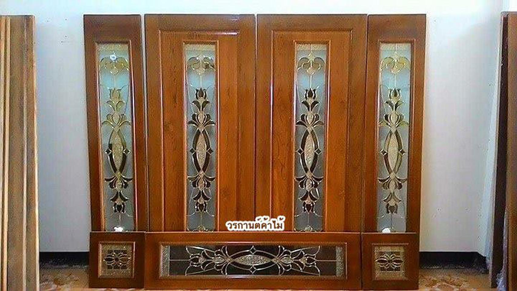 ร้านวรกานต์ค้าไม้ จำหน่าย ประตูไม้สัก กระจกนิรภัย,ประตูบานเลื่อนไม้สัก รูปที่ 4