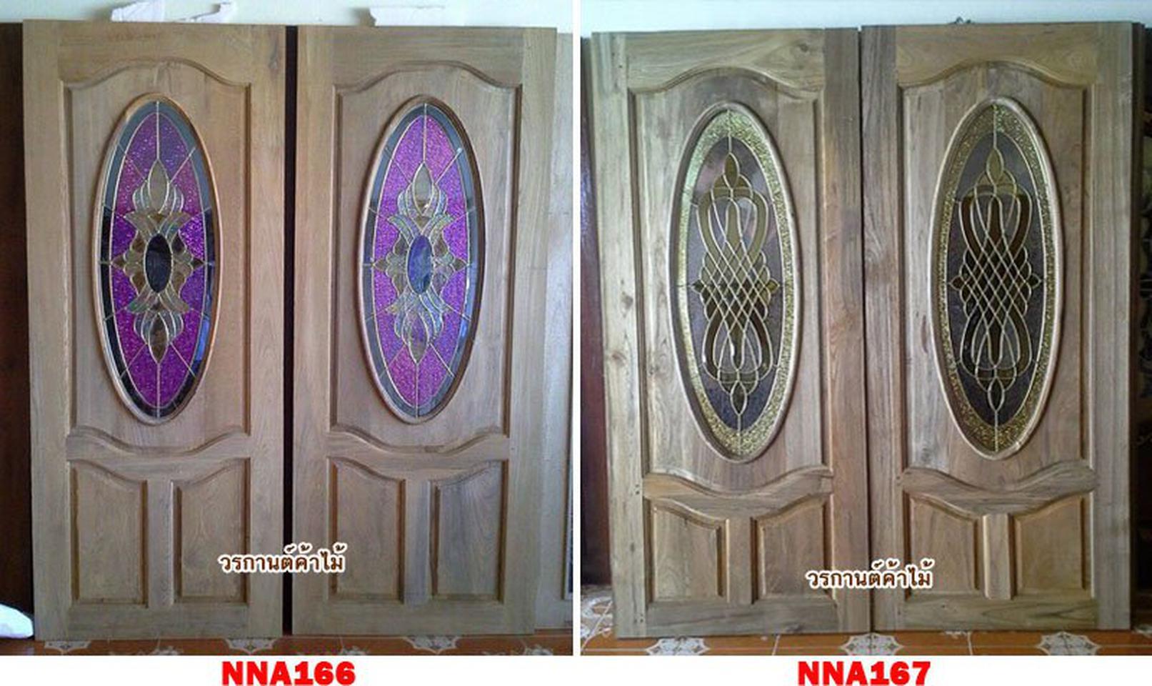 ประตูไม้สัก,ประตูไม้สักกระจกนิรภัย ไม้สักเก่า  ร้านวรกานต์ค้าไม้ door-woodhome.com รูปที่ 5