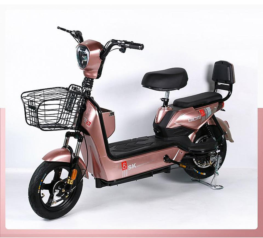 💥(จำนวนจำกัด)รถไฟฟ้า จักรยานไฟฟ้ารุ่นอัพเกรด  มีที่ปั่น มอเตอร์48V เหมาะสำหรับขับในเมือง มี 4 สี รูปที่ 3
